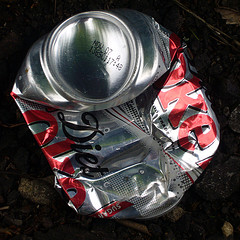 Crushed Diet Coke can